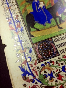 A page from the Stundenbuch aus Nordfrankreich : Handschrift auf Pergament--that is, a book of hours from Northern France. Spec. Coll. Oversize ND3363.N67 S79 1985